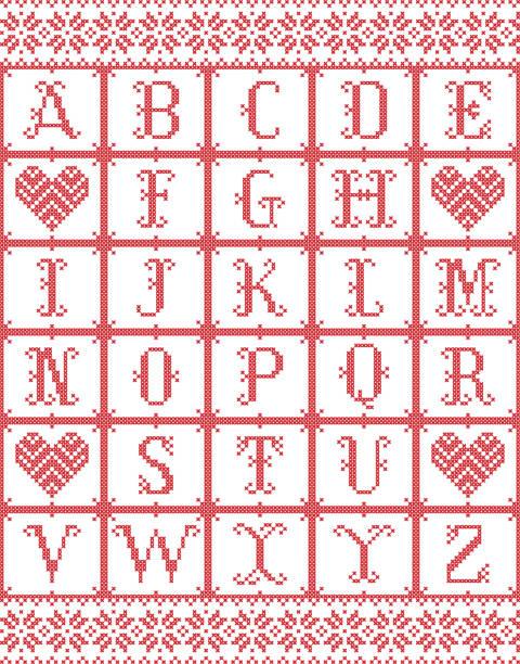 abecedario a punto de cruz infantil