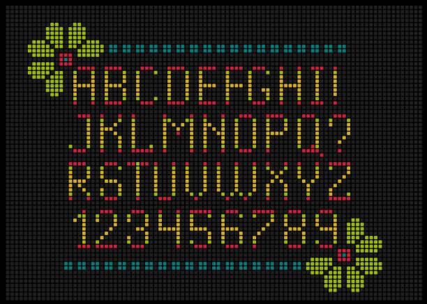 alfabeto a punto de cruz