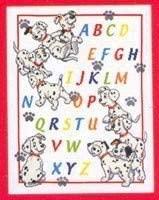 abecedario punto de cruz con flores
