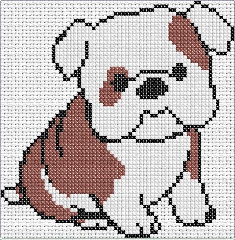 como hacer punto de cruz a crochet