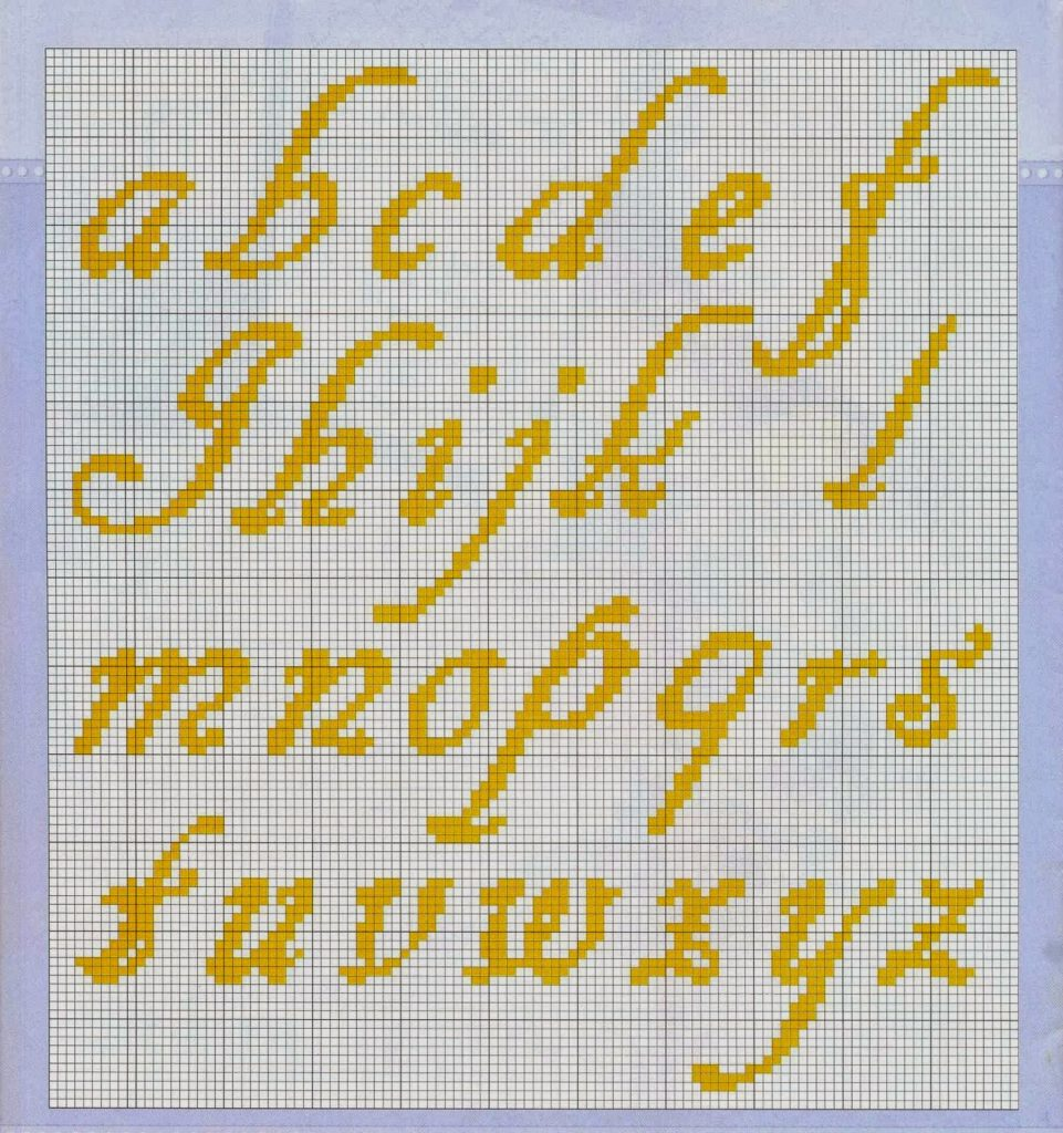 letras a punto de cruz para bebes
