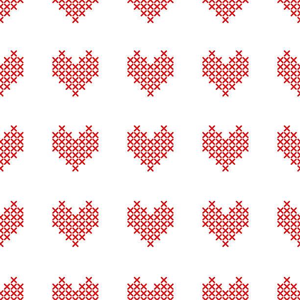 patrones punto de cruz arboles