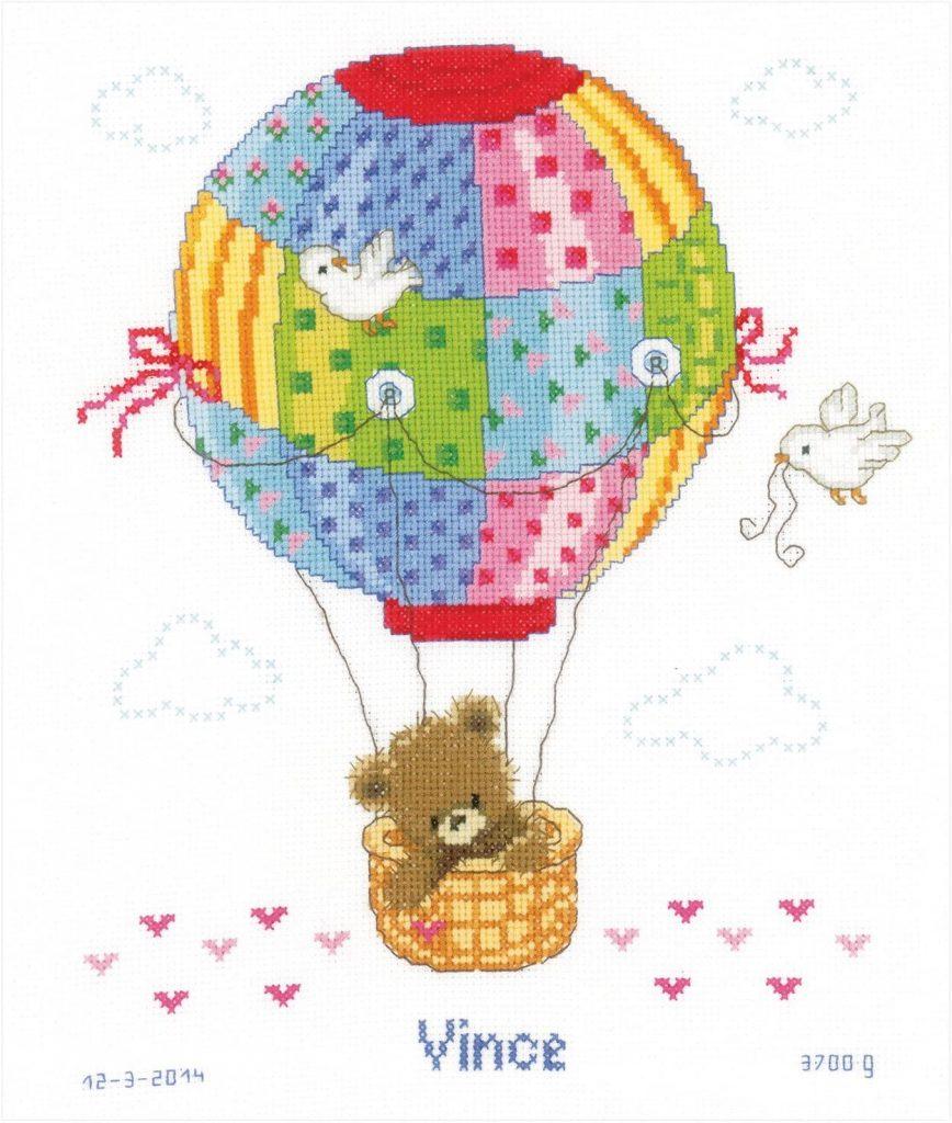 globos en punto de cruz para bebes