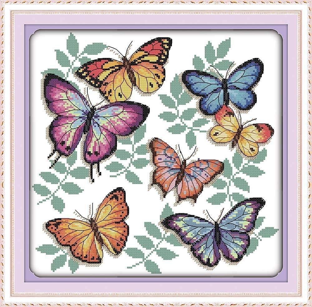 mariposas punto de cruz para baberos