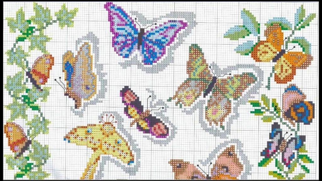 mariposa punto de cruz facil