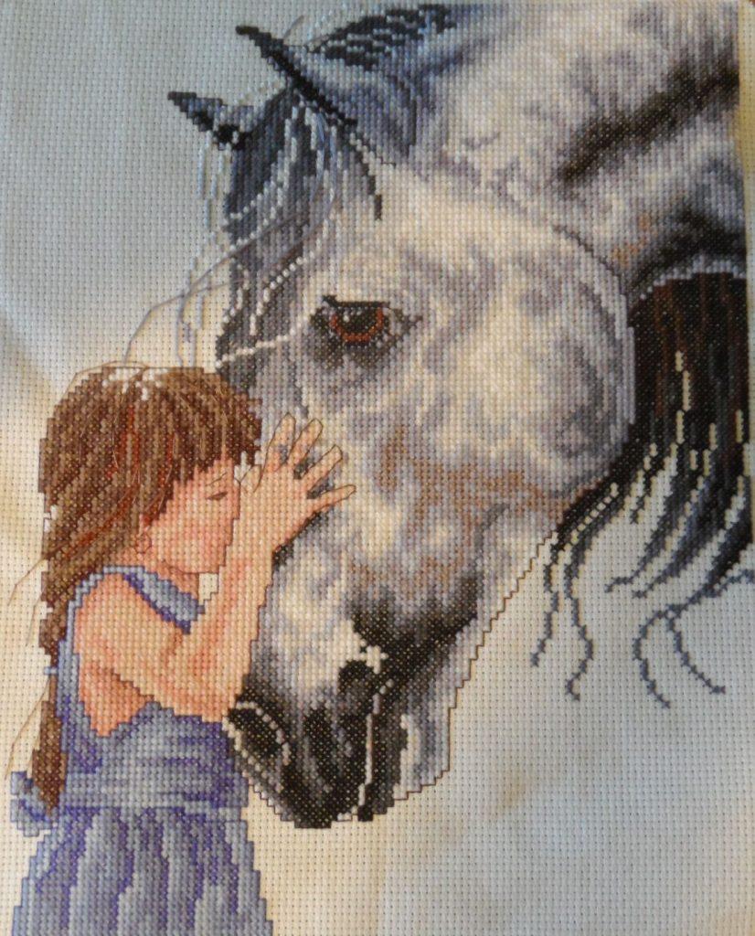 caballos en punto de cruz para bebe