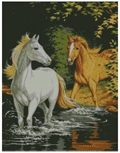 caballos en punto de cruz para imprimir