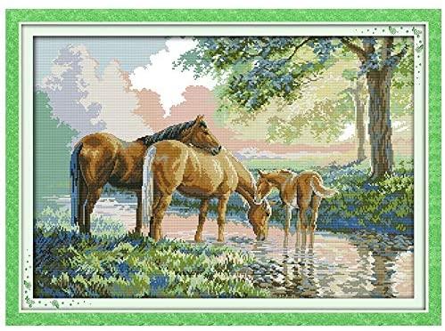 caballos en punto de cruz patrones gratis