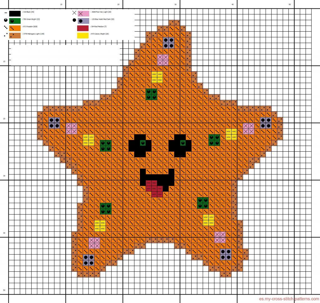 estrellas en punto de cruz para bebes