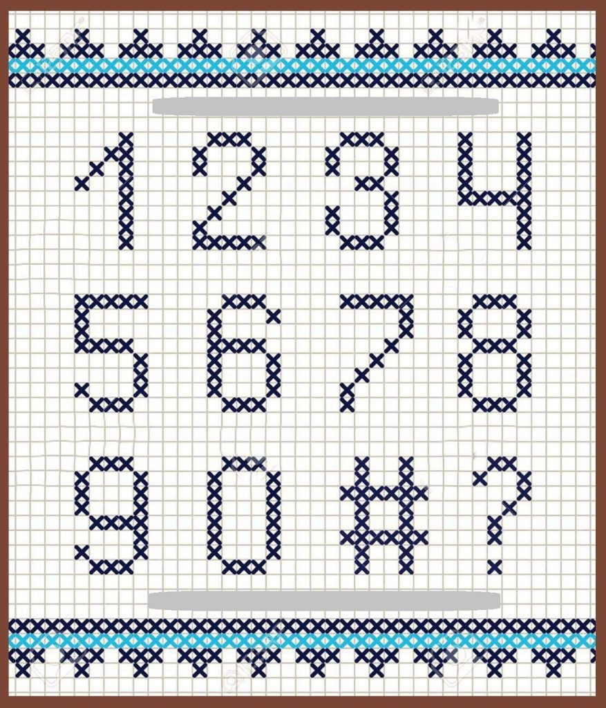 numeros a punto de cruz patrones
