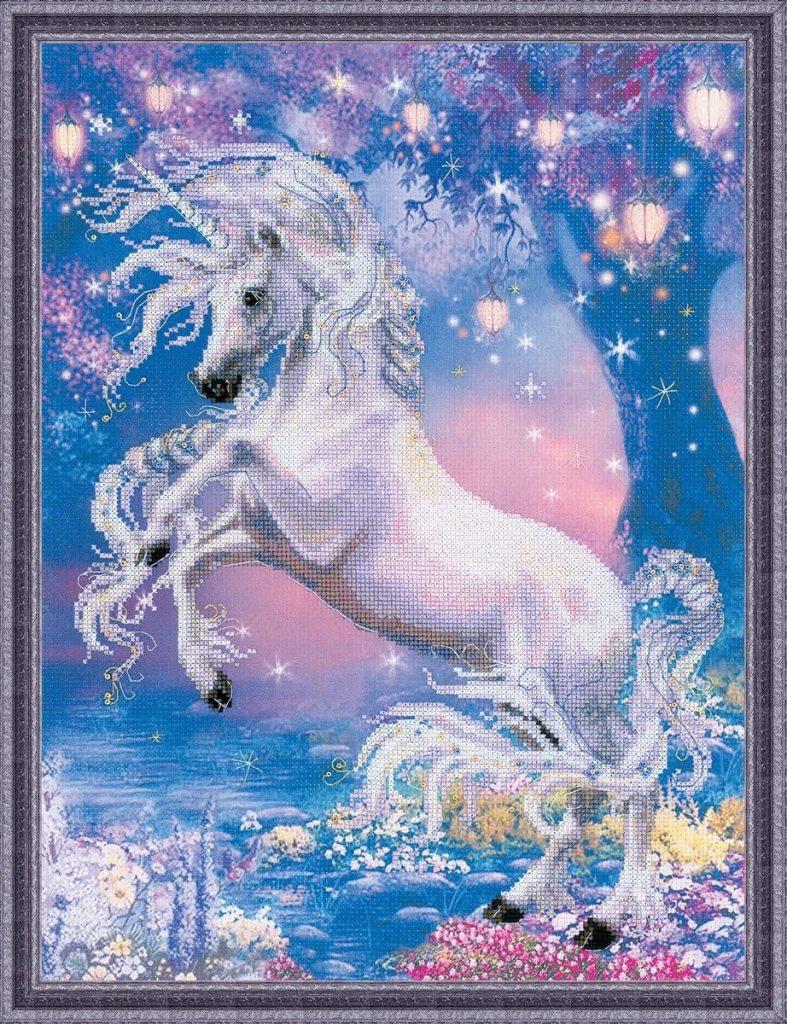 unicornios en punto de cruz gratis